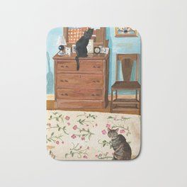 When the Cats are Home Alone Bath Mat