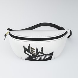 New York City Typographic Design For Big Apple Fans design Fanny Pack