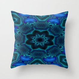 Battling At The Chasm Mandala 15 Throw Pillow