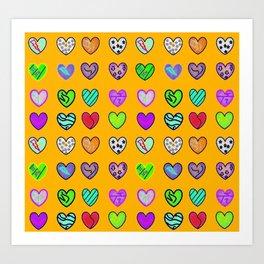 A heart for Britto by Nico Bielow Art Print