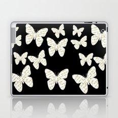 French script butterflies Laptop & iPad Skin