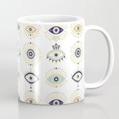 Evil Eye Collection on White Mug