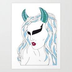 Taurus / 12 Signs of the Zodiac Art Print
