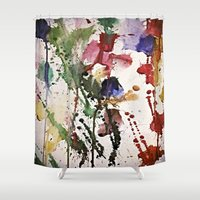 splatter Shower Curtains featuring Colorful Splatter by Lizzshop
