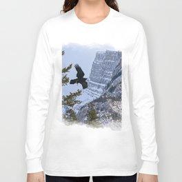 Mt Rundle & Raven (Canadian Rockies) Long Sleeve T-shirt
