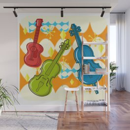Sunny Grappelli String Jazz Trio Composition Wall Mural