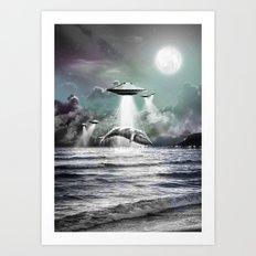 Whaling UFO Art Print