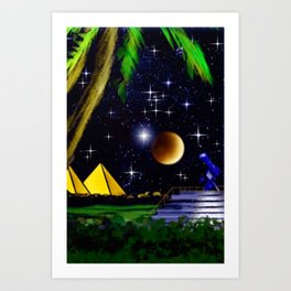 Landof the Pharaohs. Art Print