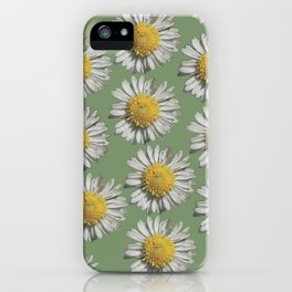 pastel daisy mania iPhone Case