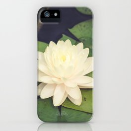 Peaceful Water Lily iPhone Case