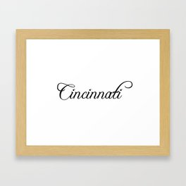 Cincinnati Framed Art Print