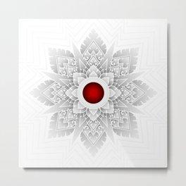 Mandala Thai art pattern, Octagonal Stars shape in a mandala style. Metal Print