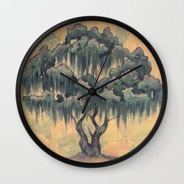 Crepe Myrtle Tree in Bloom Wall Clock