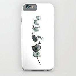 Watercolor Eucalyptus Plant 1 iPhone Case
