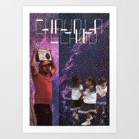CHAUD LA TECHNO  Art Print