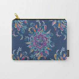 Deep Summer - Watercolor Floral Medallion Carry-All Pouch