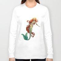 halo Long Sleeve T-shirts featuring Halo Mermaid by Yolanda martinez