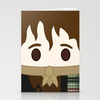outlander Stationery Cards featuring Outlander, Jamie Fraser by heartfeltdesigns by Telahmarie