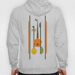 Mid-Century Modern Art Musical Strings Hoodie
