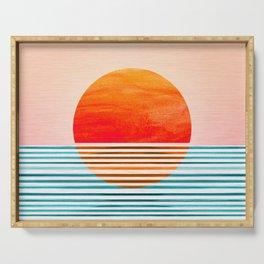 Minimalist Sunset III Serving Tray