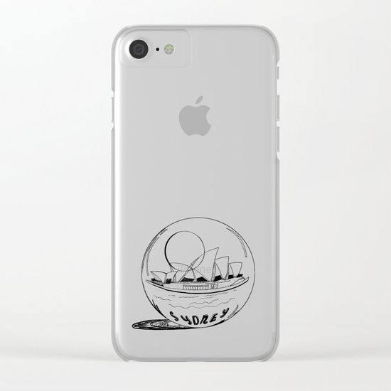 Sydney in a glass globe Clear iPhone Case