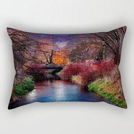 Concept Baden-Wuerttemberg : River Rottum through Laupheim Rectangular Pillow