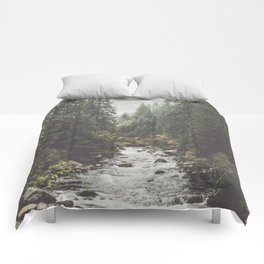 Mountain creek - Landscape and Nature Photography Comforters