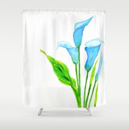 blue calla lily 2 Shower Curtain