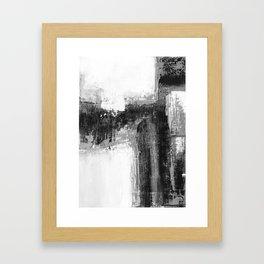 Black white abstract Framed Art Print
