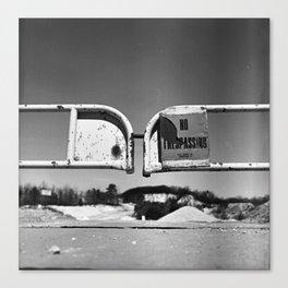 No Trespassing, Bronica S, Kodak Ektar 100 Canvas Print