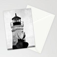 B&W Lighthouse Stationery Cards