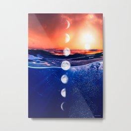 Moon phases #3 Metal Print
