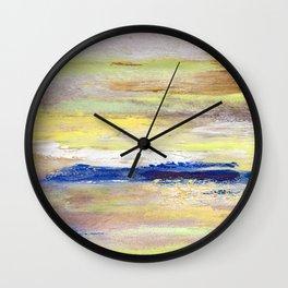 Rock Study in Yellows Wall Clock