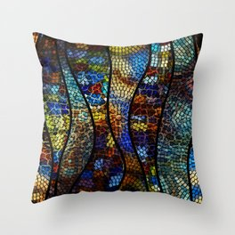 Mosaic Artwork Throw Pillow
