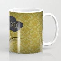 sherlock Mugs featuring sherlock by serbangabriel