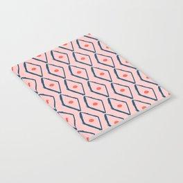 Pink Navy Diamond pattern Notebook