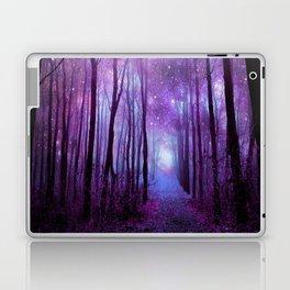 Fantasy Forest Path Purple Pink Laptop & iPad Skin