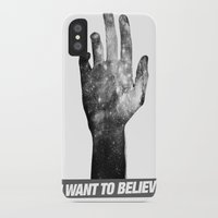 i want to believe iPhone & iPod Cases featuring I Want To Believe by Devin Caldwell