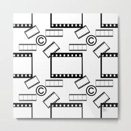 Film © pattern Metal Print