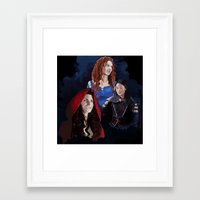 ouat Framed Art Prints featuring Warrior Women of OUAT by Christine Ring