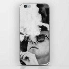 Cigar Smoker Cigar Lover JFK Gifts Black And White Photo Wall Art iPhone Skin