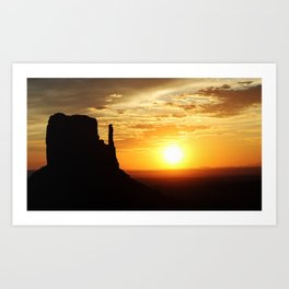 Sunrise over Monument Valley West Mitten Butte Art Print