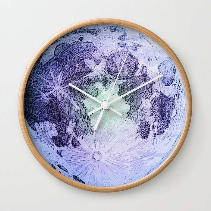 Pastel Moon Wall Clock