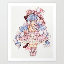 Kitty Princess Art Print