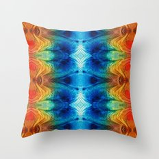 Colorful Abstract Art Pattern - Color Wheels - By Sharon Cummings Throw Pillow