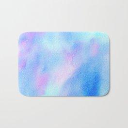 aquatic watercolor Bath Mat
