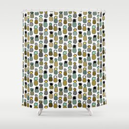 Geometric Pineapples Shower Curtain