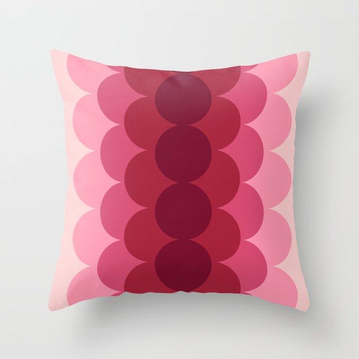 Gradual Pink Throw Pillow