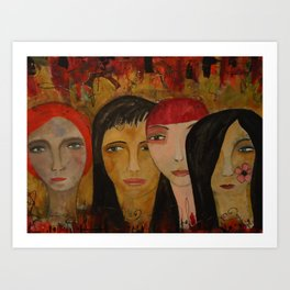The Four of Them Art Print