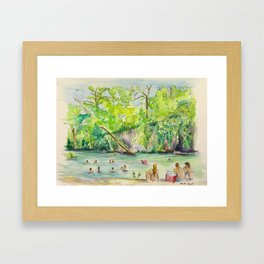 Krause Springs - historic Texas natural springs swimming hole Framed Art Print